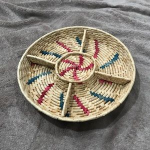 Hand woven Divided Tray